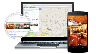 Your company appears both internally and externally at Google Maps